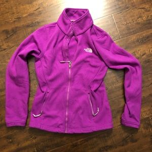 The North Face purple zip up sweater